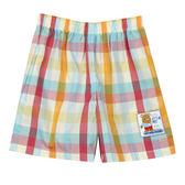 【愛的世界】鬆緊帶格紋純棉短褲/1~2歲-台灣製-n2 ★春夏下著