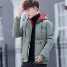 夾克外套加絨羽絨服 學生加厚男生外套 修身冬季男士外套 羽絨外套韓版外套 時尚棉服男士棉衣