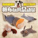 寵物耐咬磨牙發聲帆布玩具 發泄解壓狗狗互動潔齒訓練玩具 創時代3C館