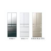 【HITACHI日立 日本原裝】569L變頻六門電冰箱 RKW580KJ-XW 琉璃白 比漾廣場