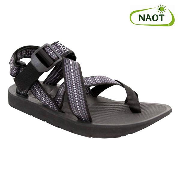 NAOT 男 夾腳型越野運動涼鞋 RETREAT 38503X11【灰黑】/ 城市綠洲 (織帶、輕量、快乾、抑菌)