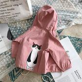 聖誕元旦鉅惠 秋季外套-兒童秋季新款上衣女童可愛貓咪長袖外套休閒開衫小清新夾克