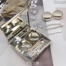 隱形近視眼鏡盒鉆石切邊3D美瞳盒ins便攜高檔護理盒cpb伴侶盒 [快速出貨]