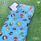 睡袋 / 兒童標準【DC正義聯盟 Q版超級英雄-藍】標準幼教款 高密度磨毛布 戀家小舖台灣製ABF088