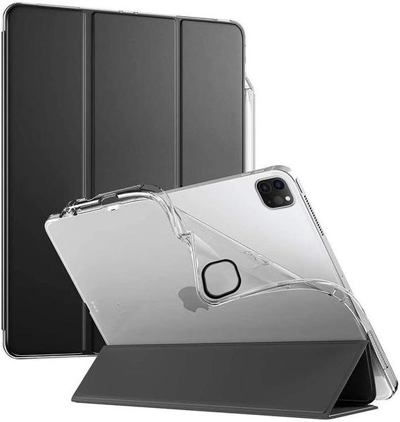 【日本代購】iPad Pro 12.9英寸保護殼 -Poetic Lumos X系列 保護殼 Pencil筆架 TPU後蓋 底座 黑色