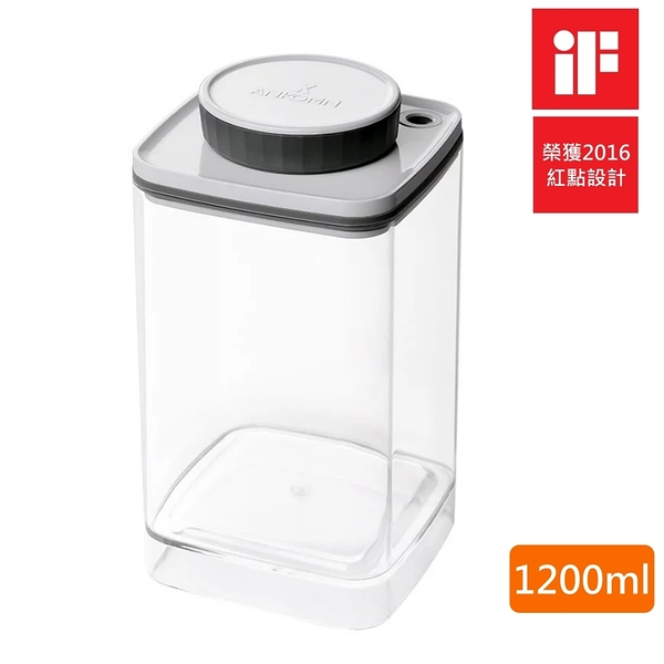 【樂品食尚】ANKOMN Turn-N-Seal 無耗電旋轉真空保鮮盒(透明)1200ml