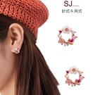 素簡手作《T062》韓國耳環925銀針珍珠鋯石垂墜耳環夾式耳環磁鐵耳環