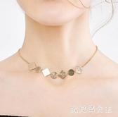 輕奢頸鍊項鍊 女潮簡約氣質小眾設計鎖骨鍊韓版脖鍊個性鍊 BT9508【大尺碼女王】