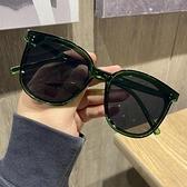 墨鏡網紅ins個性百搭綠色墨鏡女大臉顯瘦防紫外線太陽鏡復古街拍眼鏡 衣間迷你屋 交換禮物