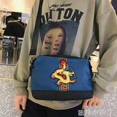 單肩斜背包大容量文藝肩帆布包中國風風女士包袋手提女包百搭包包單 蘿莉小腳ㄚ