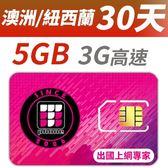 【TPHONE上網專家】紐西蘭/澳洲 30天 5GB 高速上網卡