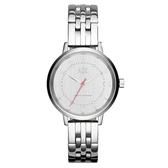 A│X Armani Exchange 迷人性格率性時尚腕錶-銀