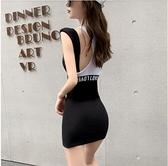 洋裝性感連身裙S-L新款法式小眾性感收腰顯瘦氣質小個子背帶裙NE215D-5819.一號公館