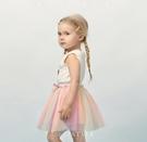 女童紗裙半身裙1-3歲女寶寶夏裝裙子嬰兒短裙兒童公主裙 洛小仙女鞋