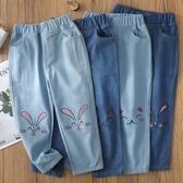 2020新款春秋款兒童女童牛仔褲棉麻薄款洋氣大童寶寶休閒長褲子潮 Korea時尚記