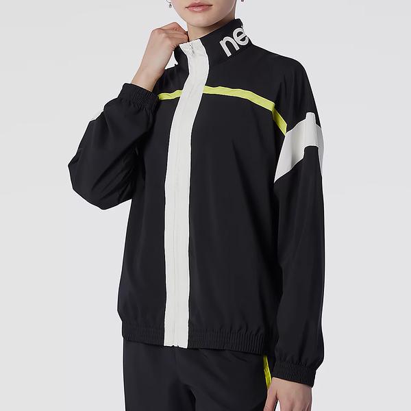 New Balance Relentless 女裝 外套 夾克 寬版 立領 休閒 口袋 黑【運動世界】WJ13172BK