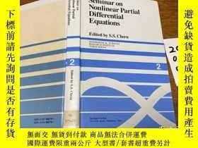 二手書博民逛書店Seminar罕見on nonlinear partial differential equationsY17