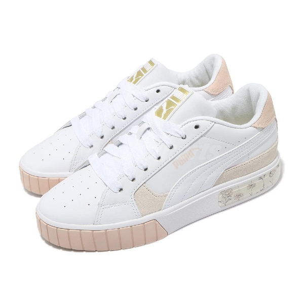 Puma 休閒鞋 Cali Star In Bloom Suede x SG 白 灰 女鞋 聯名 厚底 【ACS】 38063101