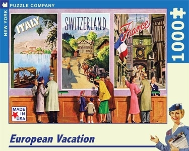 【KANGA GAMES】拼圖 歐洲假期 European Vacation  1000片