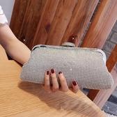 歐美奢華水鉆貝殼頭閃鉆手拿包 婚宴晚宴慶典禮服手挽包名媛手包