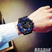 社會人手錶男學生潮流大表盤霸氣歐美裝逼利器雙機芯男表朋克蒸汽 WD 遇見生活