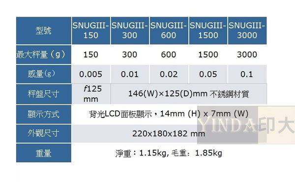 SNUGIII 精密電子天平 電子秤1/30000高精度設計