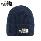 【The North Face LOGO BOX CUFFED BEANIE 保暖針織帽《海軍藍》】3FJX/保暖帽/防寒/登山