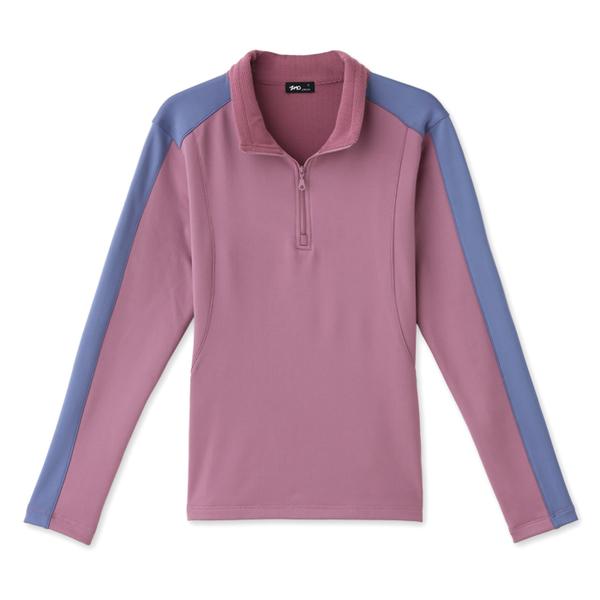 台文ZMO 女款休閒立領保暖長袖衫 AF450 紫灰 排汗衣 長袖上衣 立領上衣 運動上衣 OUTDOOR NICE