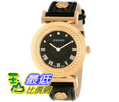 [美國直購禮品暢銷排行榜] Versace Women s P5Q80D009 S009 Vanity Rose Gold Ion-Plated Stainless Steel Leather Band