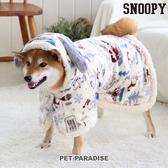 【PET PARADISE 寵物精品】 SNOOPY 史奴比狗耳朵滿版懶人毯(SM/L) 大尺寸狗衣服 寵物衣服 秋冬新品