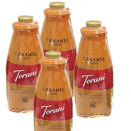 TORANI 特朗尼 美國進口【天然焦糖醬】64oz(2.5kg) x 4瓶 /箱(不含防腐劑)