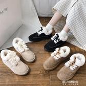 雪地靴-網紅雪地靴女新款冬季短筒時尚ins潮鞋百搭厚底加絨麵包棉鞋 東川崎町