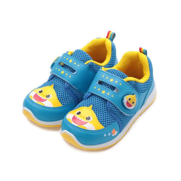 碰碰狐 Baby Shark 魔鬼氈電燈運動鞋 藍 PIKX96606 中大童鞋 鞋全家福