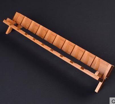 功夫茶具茶杯架可折疊收納旅行陶瓷瀝水杯架茶具茶道配件竹製杯架