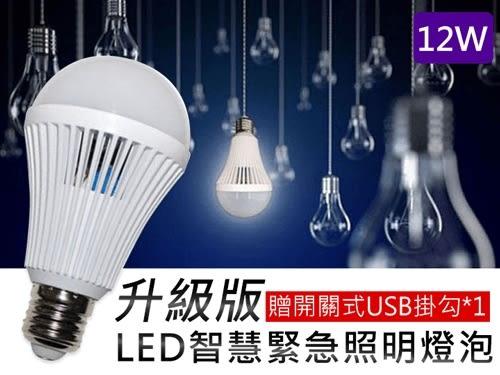 升級版LED智慧緊急照明燈泡12W