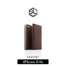 【G2 STORE】SLG iPhone 6 / 6S  D3 經典蜥蜴壓紋 真皮側掀皮套 - 棕