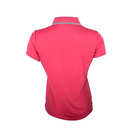MIZUNO美津濃 女短袖POLO衫(桃紅) 吸汗快乾、抗紫外線