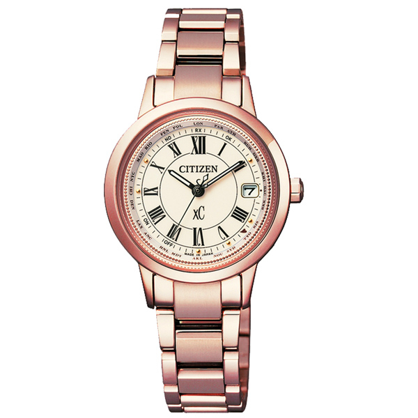 CITIZEN xC 戀之梵蒂岡電波時計腕錶-EC1144-51W
