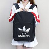 KUMO SHOES-Adidas Originals 黑 愛迪達 三葉草 背包 白LOGO 後背包 BK6723