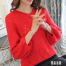 鏤空針織衫外套防嗮衣新款上衣 韓版薄款毛衣女罩衫外搭短款 4328