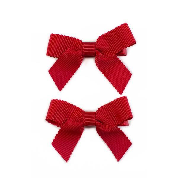 美國 Ribbies Clippies 經典蝴蝶結2入組-紅