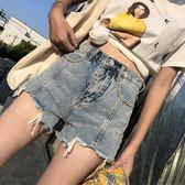 網紅牛仔短褲女夏韓版顯瘦寬鬆高腰chic外穿a字闊腿熱褲 夏洛特