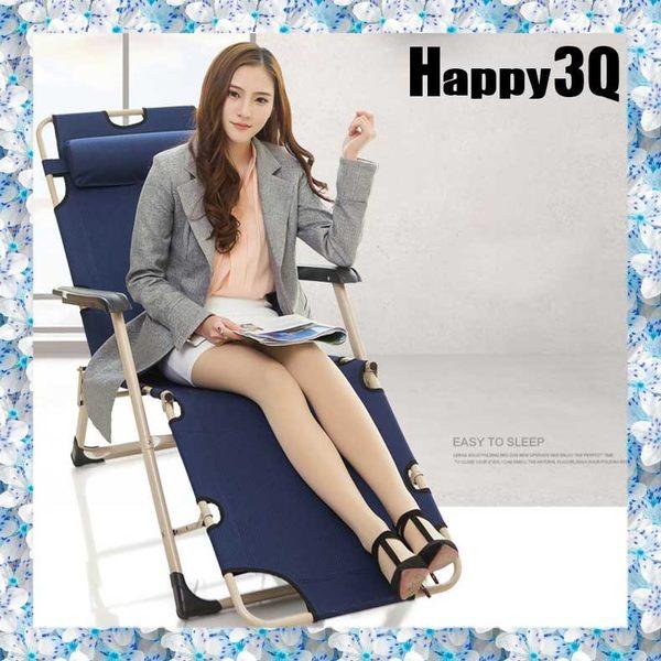 辦公室工作室午睡床躺平可調節摺疊沙發椅折疊床-灰/棕/紅/藍【AAA0953】預購