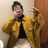 工裝外套女韓版寬鬆春季新款刺繡百搭學生長袖單排扣襯衣開衫