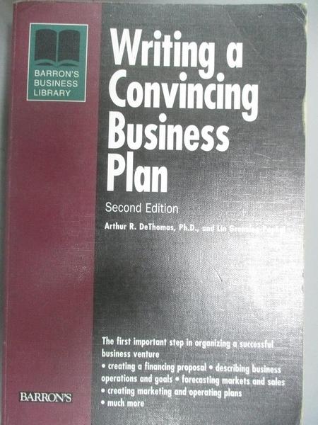 【書寶二手書T8/財經企管_JRS】Writing a Convincing Business Plan