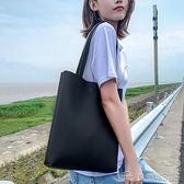 手提包 女士單肩包大容量斜背手拎袋子百搭軟皮手提包韓版休閒托特包【免運快出】
