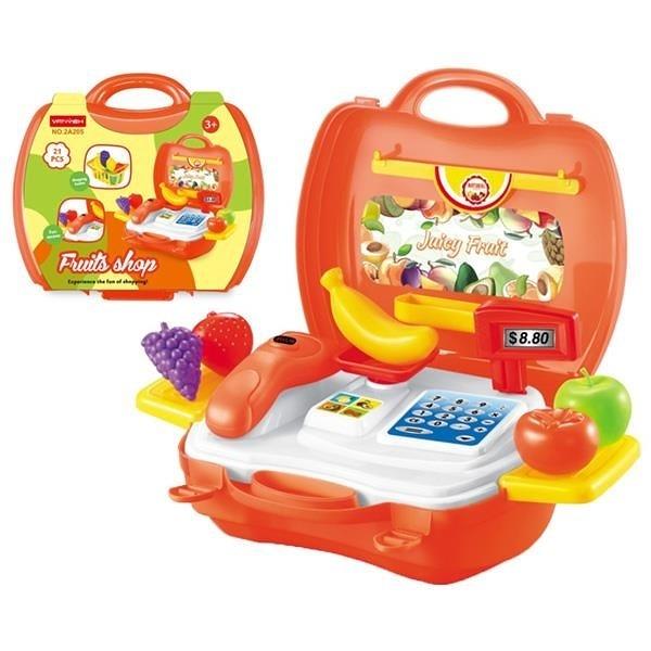 【南紡購物中心】手提箱遊戲組 水果超市 2A205