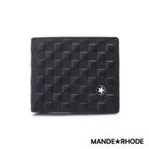 MANDE RHODE - 巴弗洛 - 質感真皮訂製格紋短夾 - 86345-B