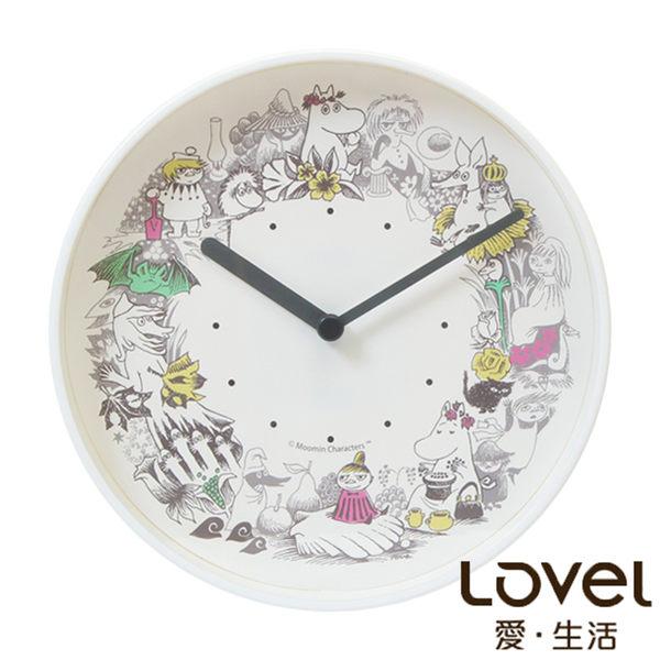 Moomin 嚕嚕米花圈派對鐵框靜音時鐘/掛鐘 20cm
