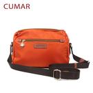 【CUMAR女包】輕量防潑水尼龍三隔層斜背小包-橘